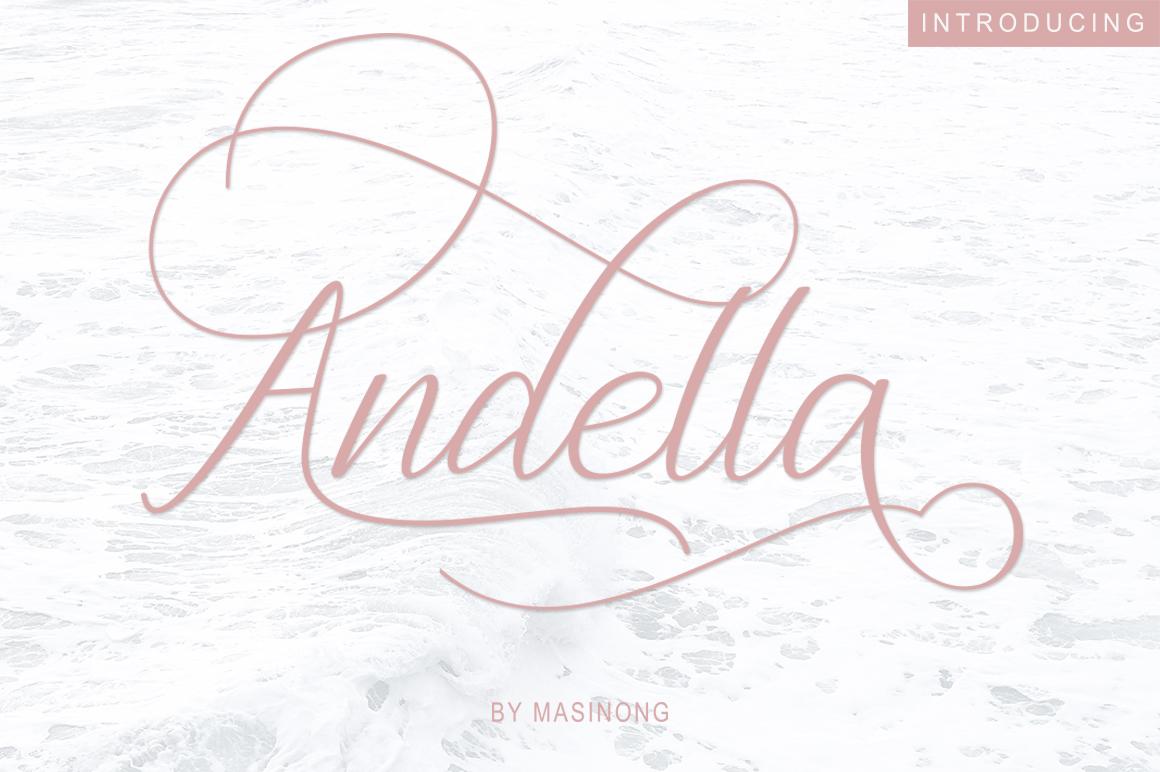 Andella Script example image 1