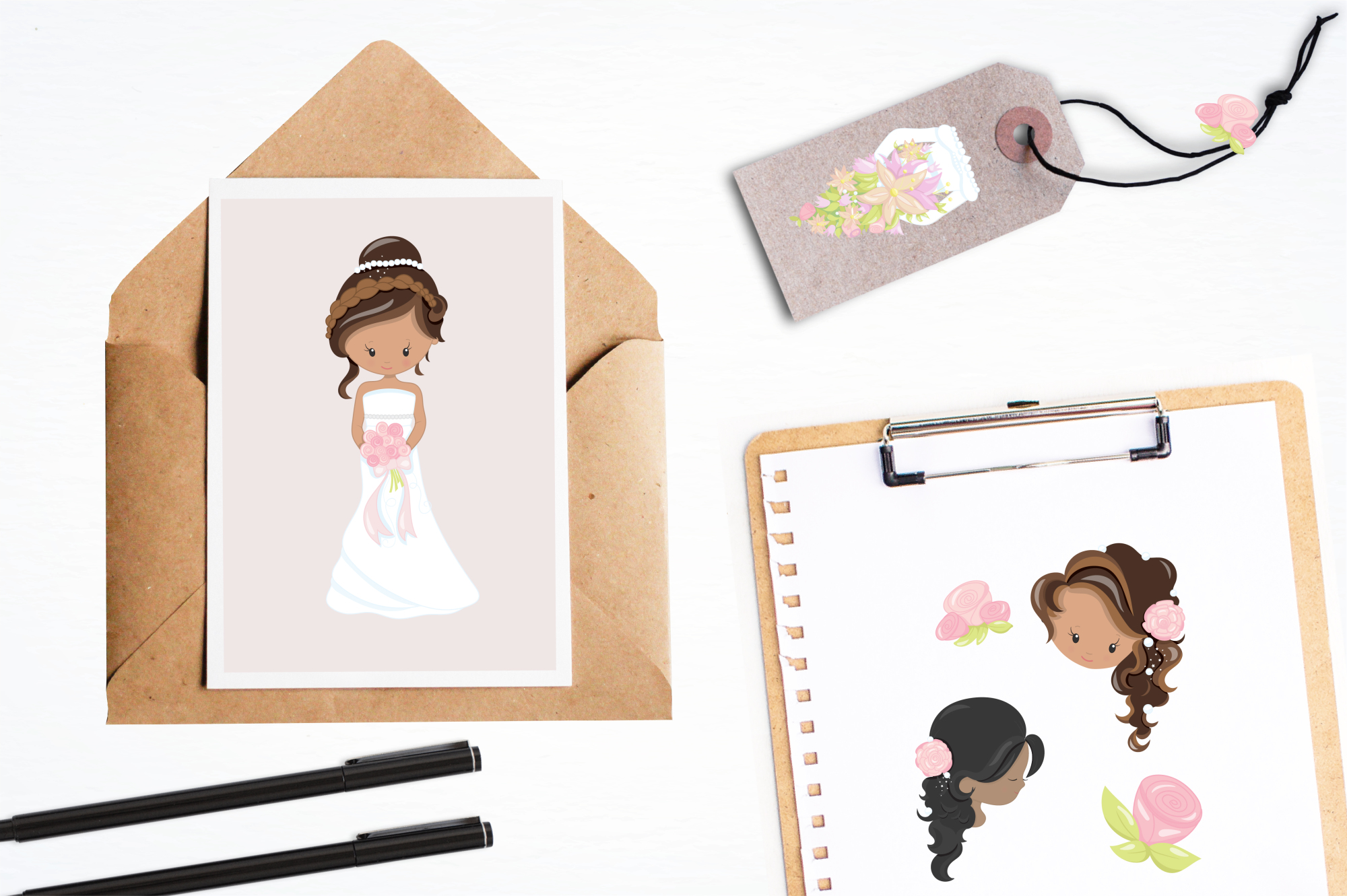 Bride  graphics and illustrations example image 4