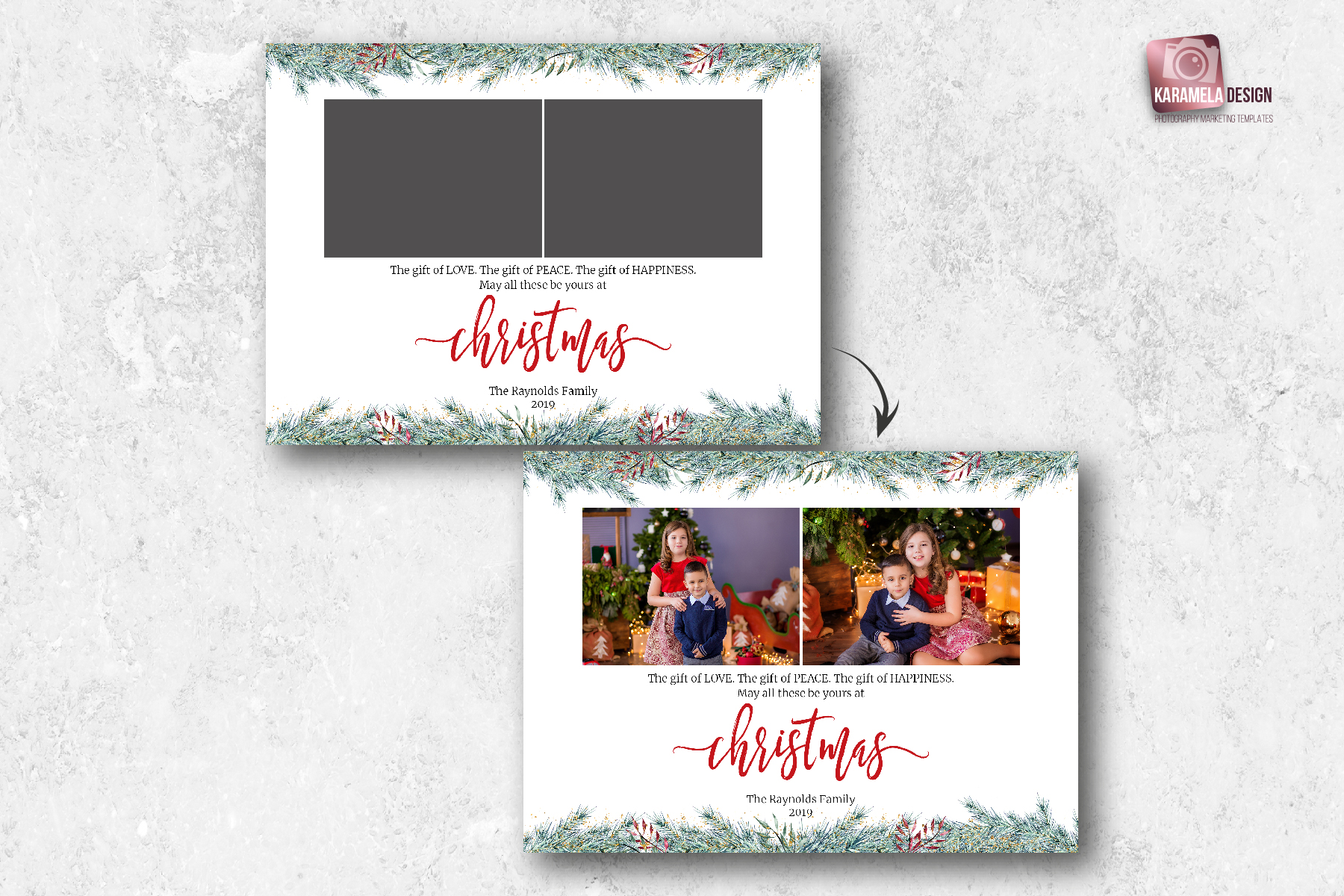 Christmas Card Template for Photographers example image 2