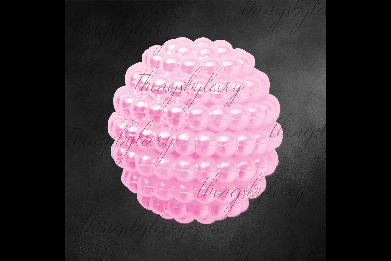 100 Pearl Pomander Digital Clip Art Jewelry Pearl Ball Image example image 4