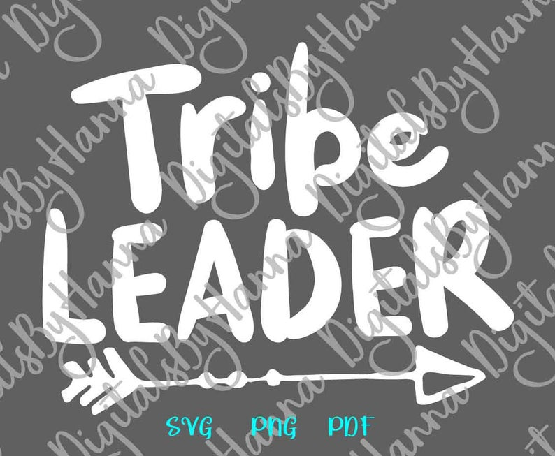 Tribe Leader Family Sign Parenting Print & Cut PNG SVG File example image 6