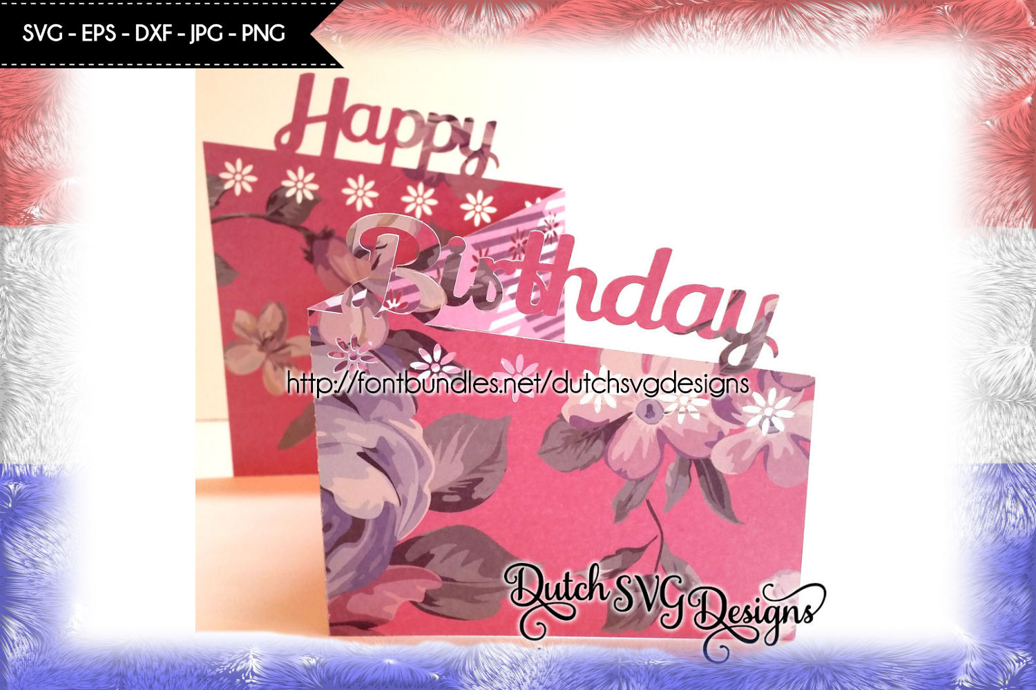Card cutting file Happy Birthday example image 1
