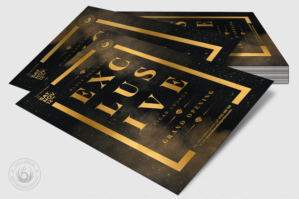 Black and Gold Flyer Template V14 example image 4