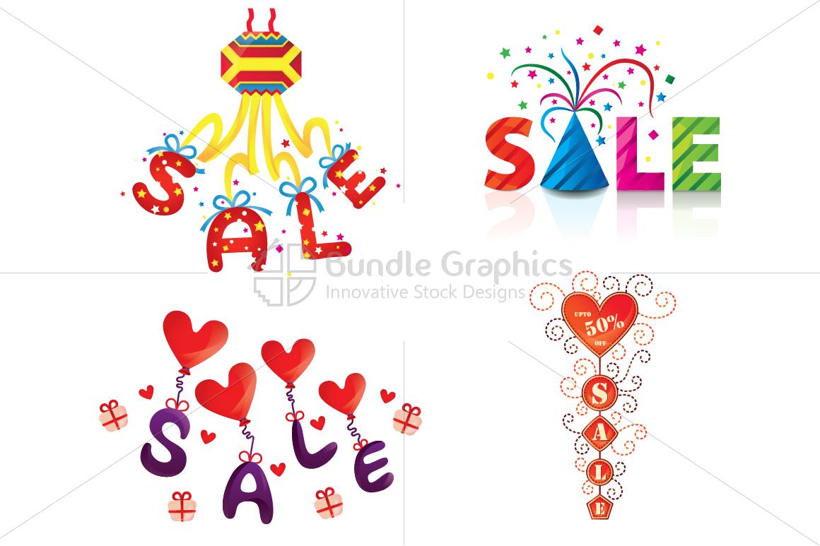 Sale - Vector Graphics Illustrative Elements Set example image 1