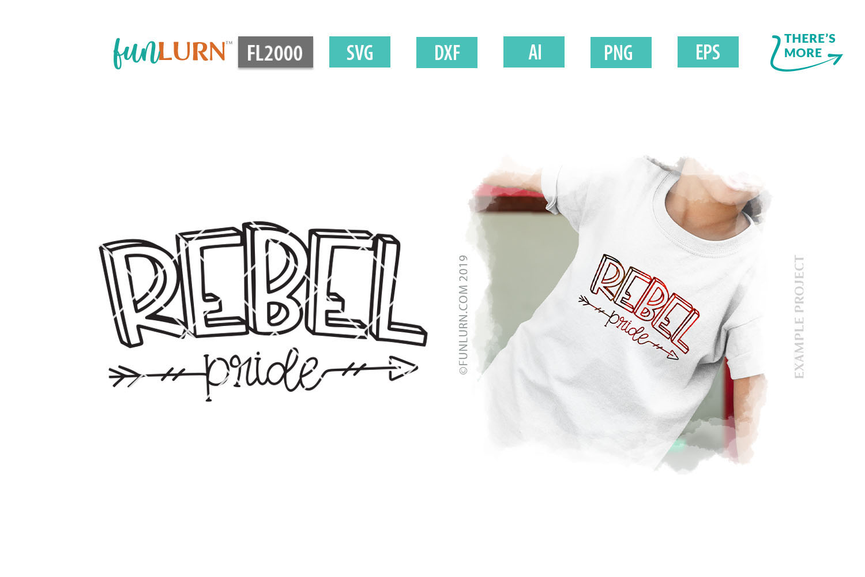 Rebel Pride Team SVG Cut File example image 1