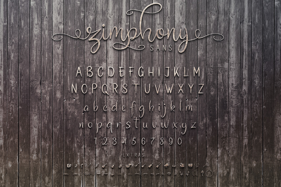Zimphony Font Duo example image 8