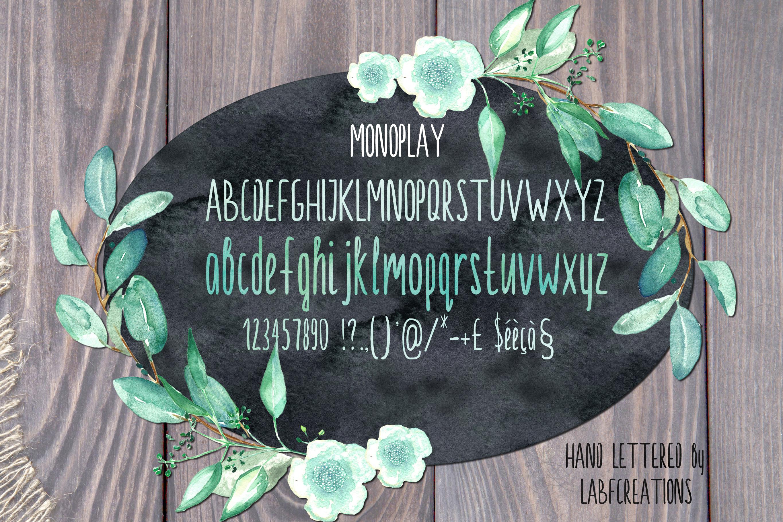 Monoplay. Minimalist Sans Serif font example image 4