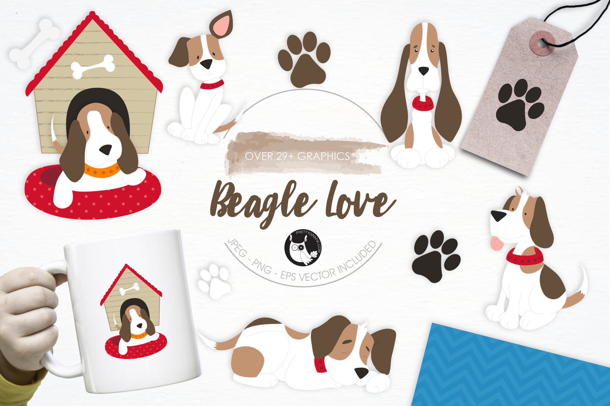 Beagle Love graphics and illustrations example image 1