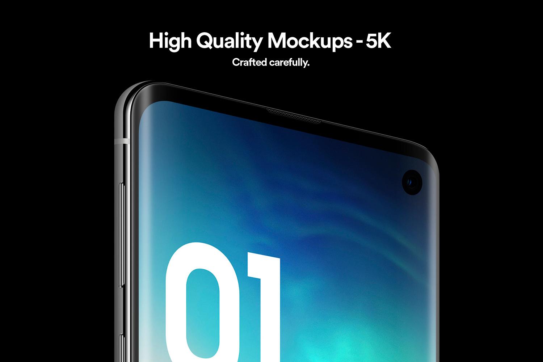 Samsung Galaxy S10 - 21 Mockups - 5K - PSD example image 3