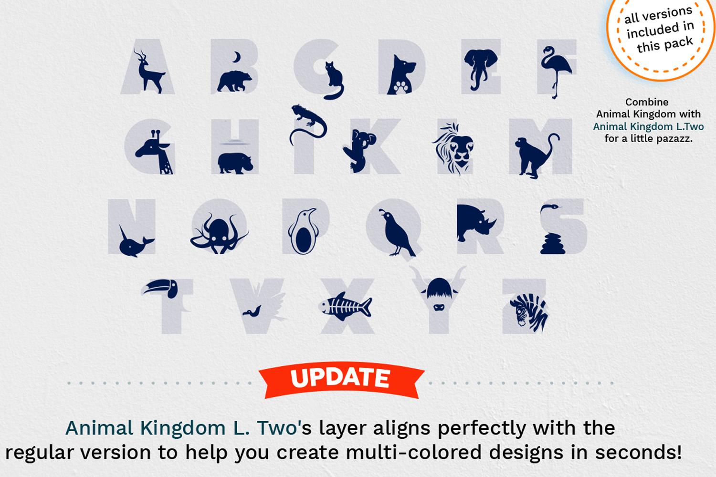 Animal Kingdom Craft Font   Wild Animals Font example image 2