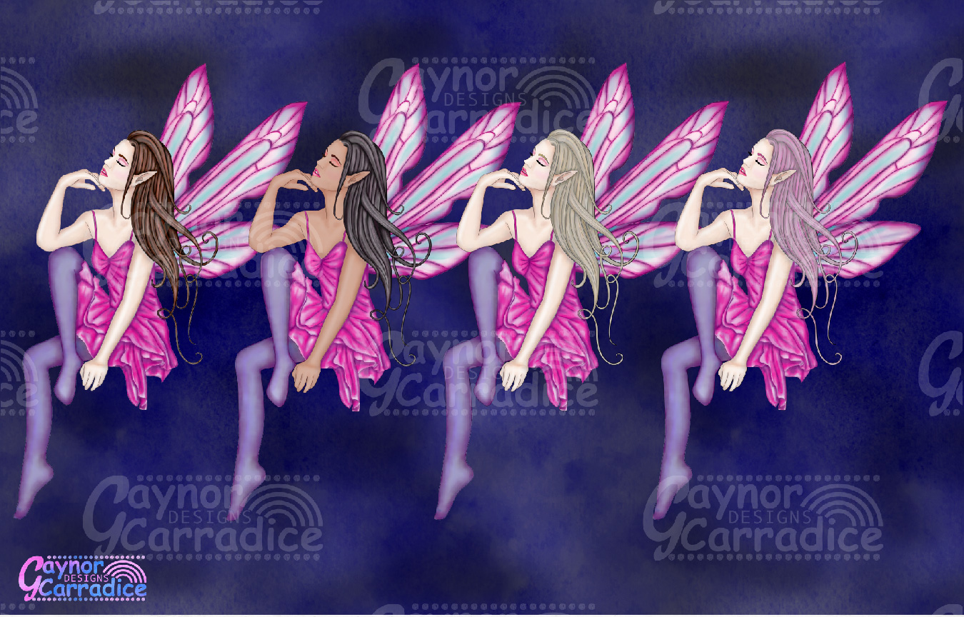 Moonligh Fairy Clipart Collection example image 3
