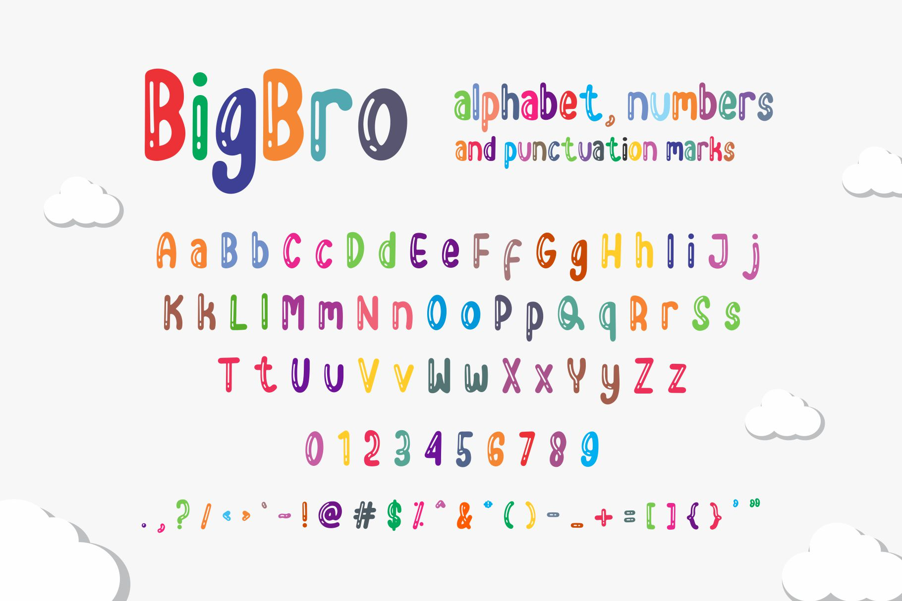 BigBro - A Fun Display Font example image 2