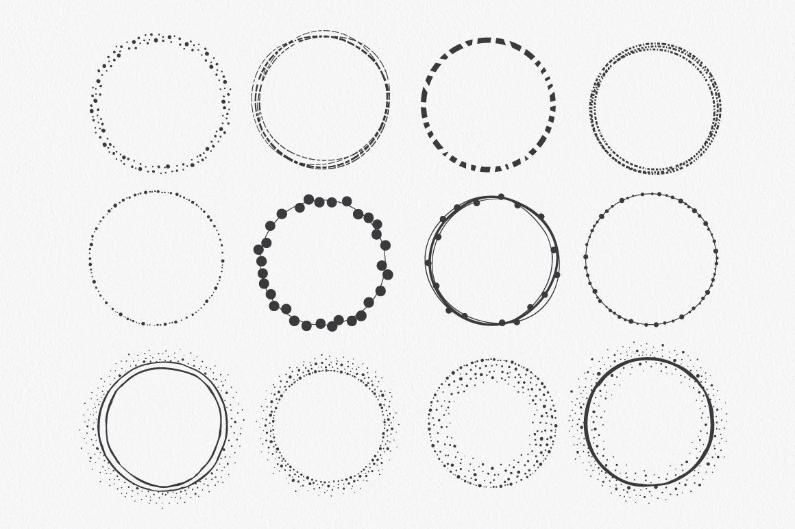 Hand Drawn Circle Shapes - Logo elements example image 4