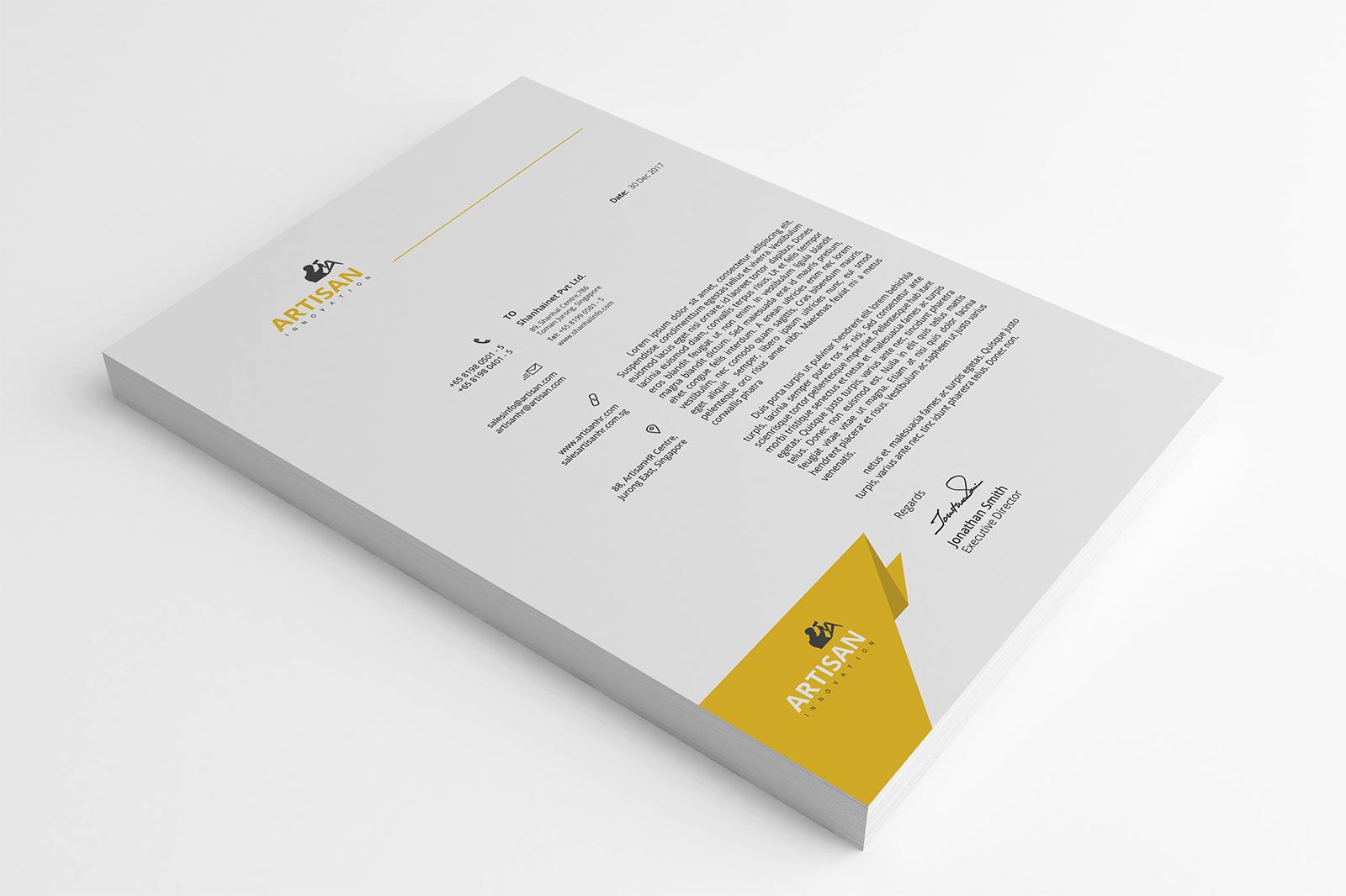 Modern Letterhead example image 5