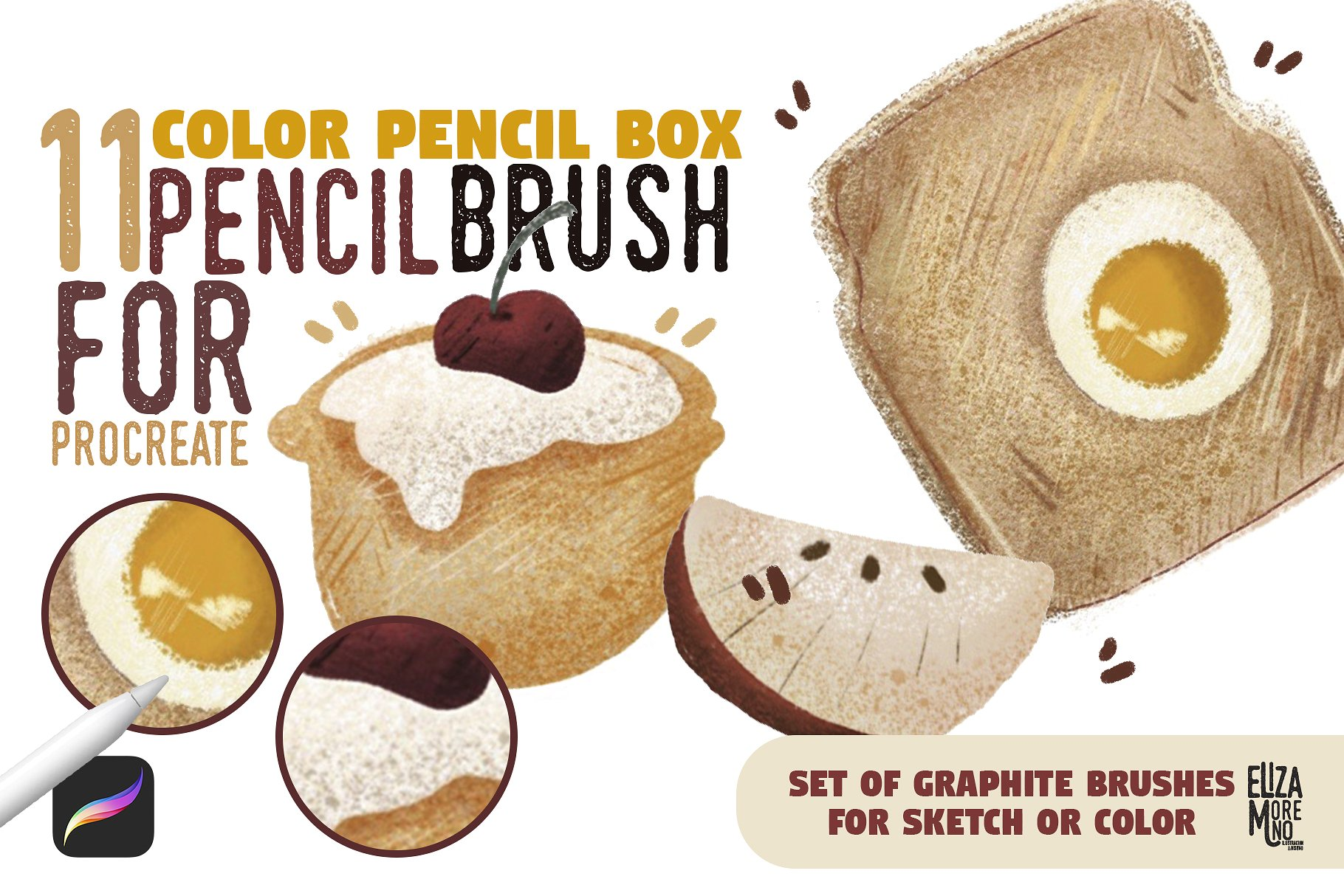 Color Pencil Box - Procreate set example image 1