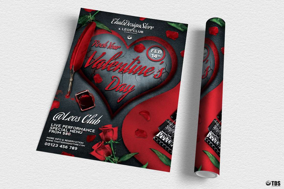 Rock Your Valentine Flyer Template example image 3