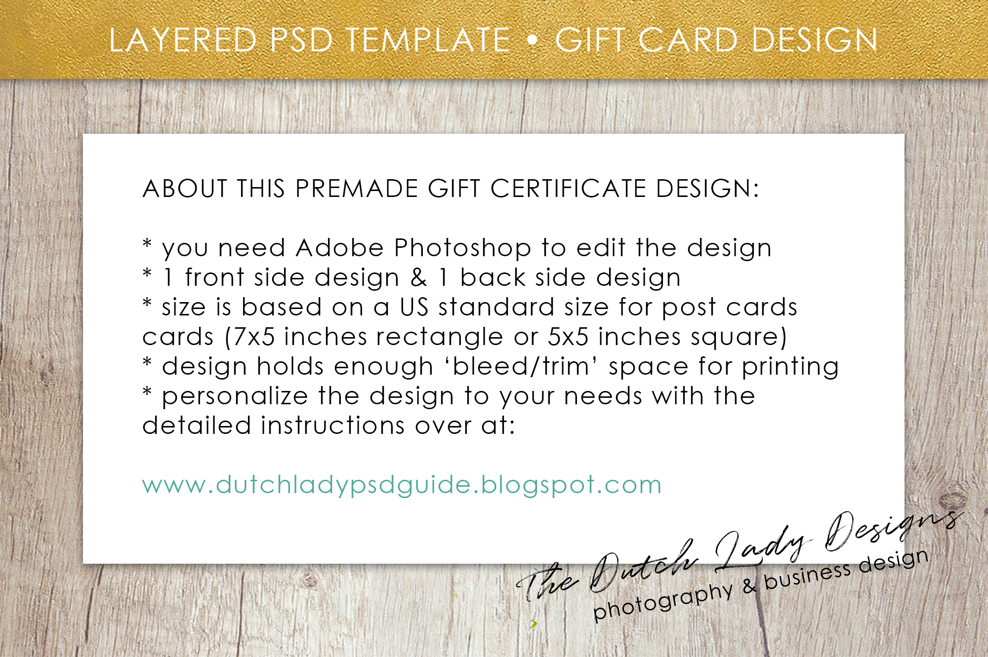 Photo Gift Card Template for Adobe Photoshop - #53 example image 6