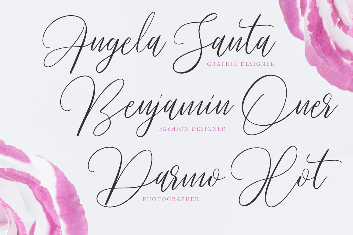 Pradita Script Font example image 2
