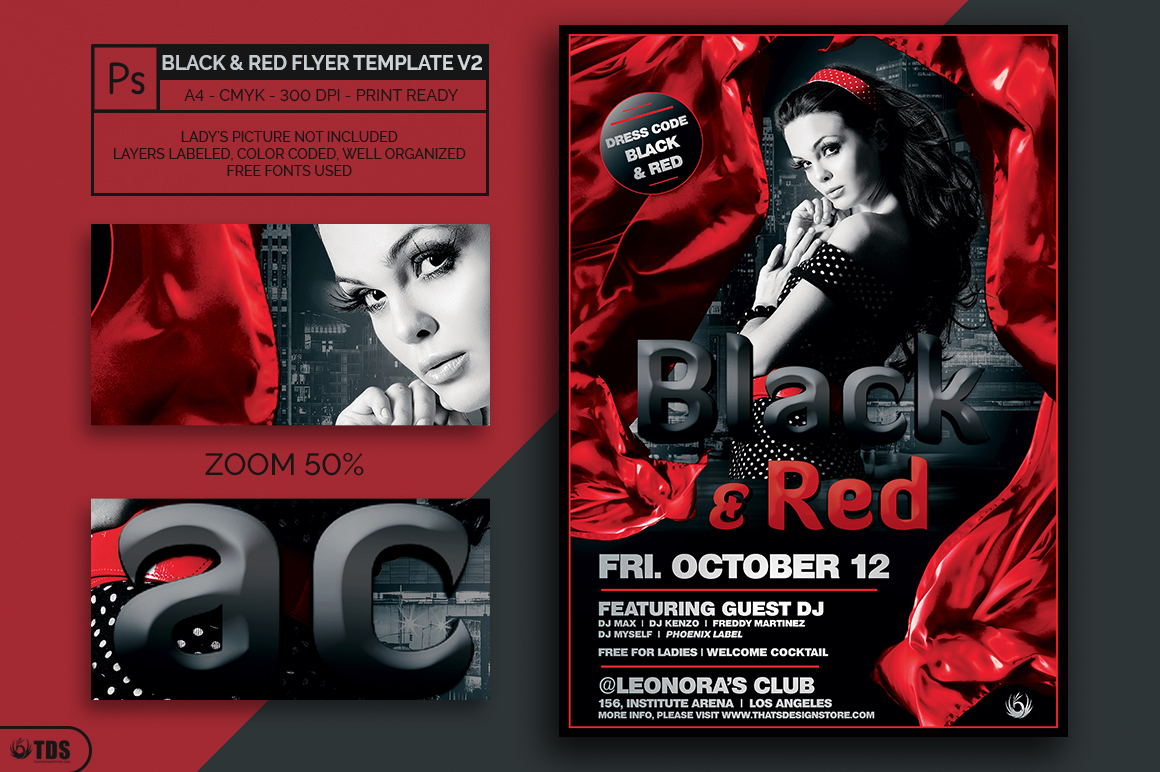 Black and Red Flyer Template V2 example image 2