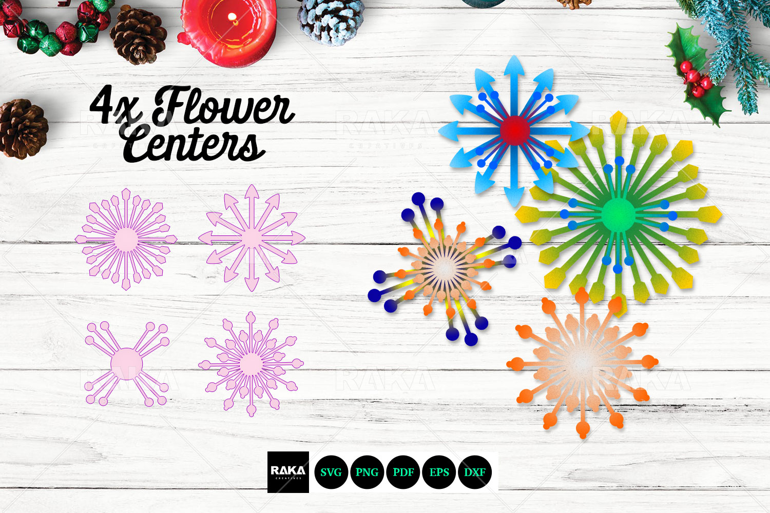 20 Paper Flower SVG | Paper Flower Template | Large Paper example image 5