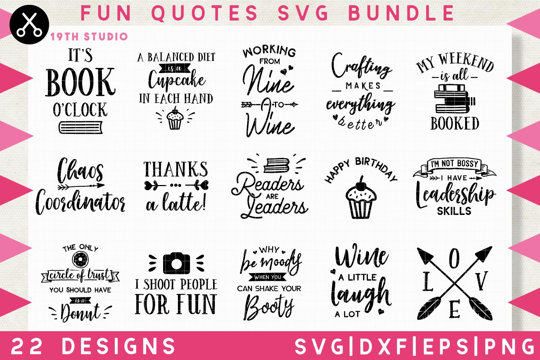 Fun Quotes SVG Bundle - M10B example image 1