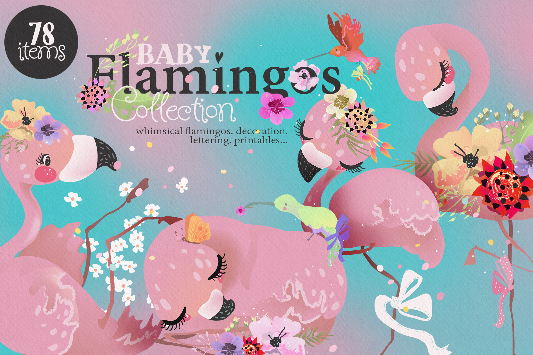 Baby Flamingo Collection example image 1