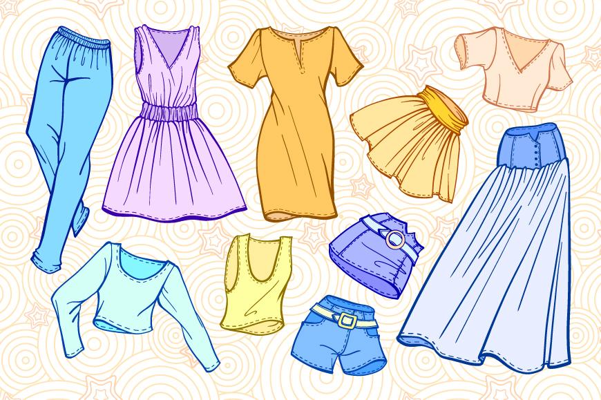 Fashion elements set example image 2
