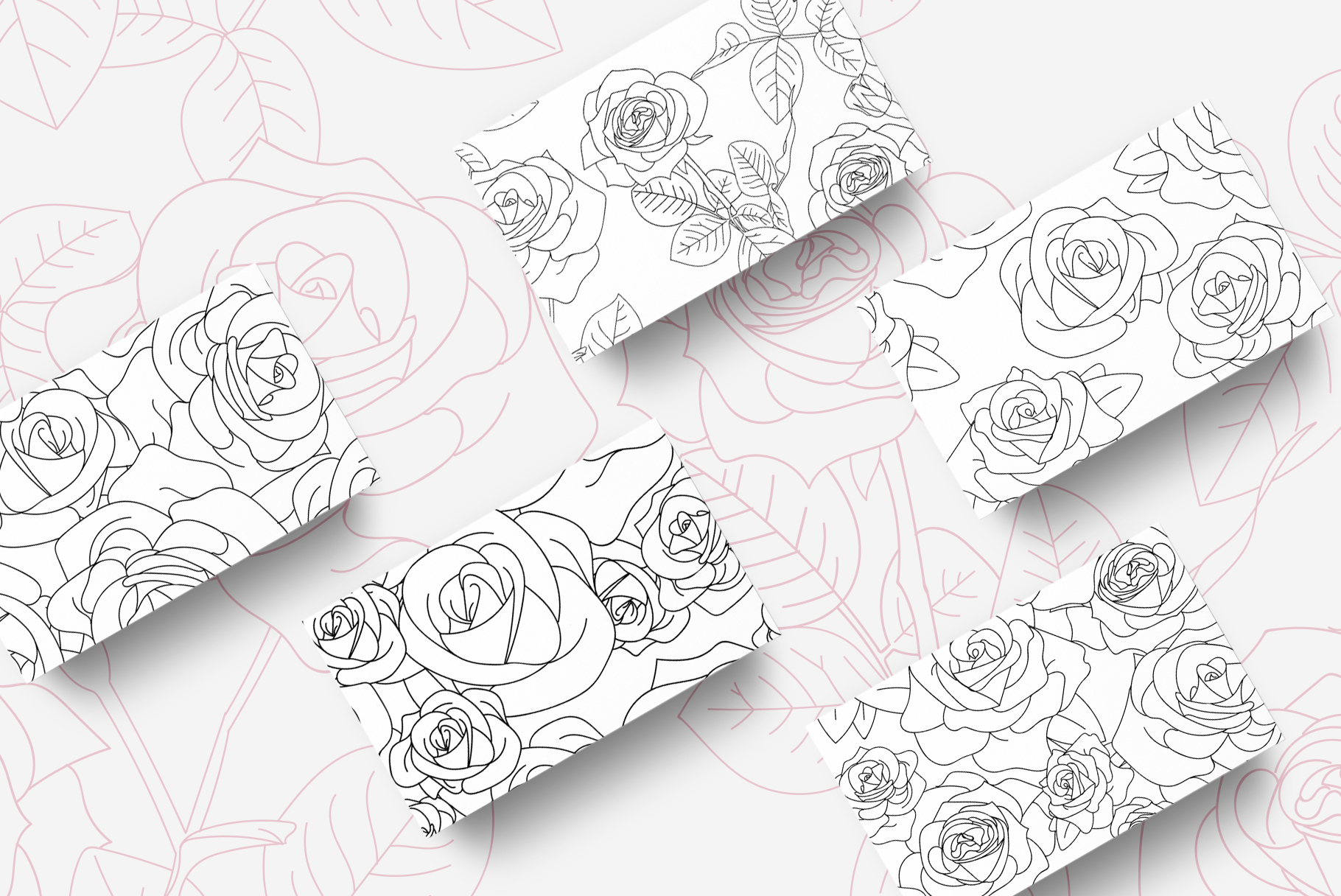 Romantic Rose Pattern Pack example image 4