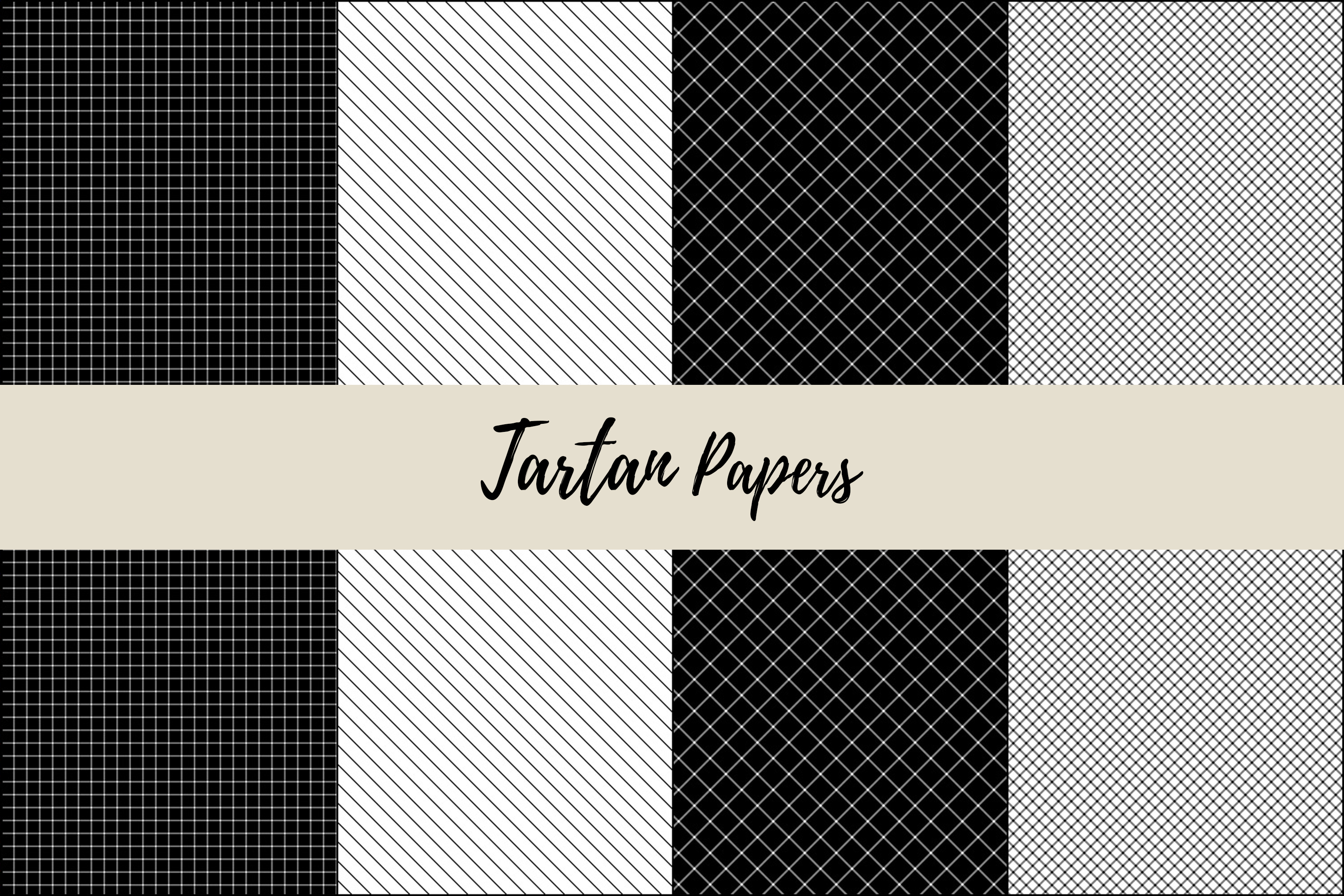 22 Black & Red Tartan Background Papers example image 9