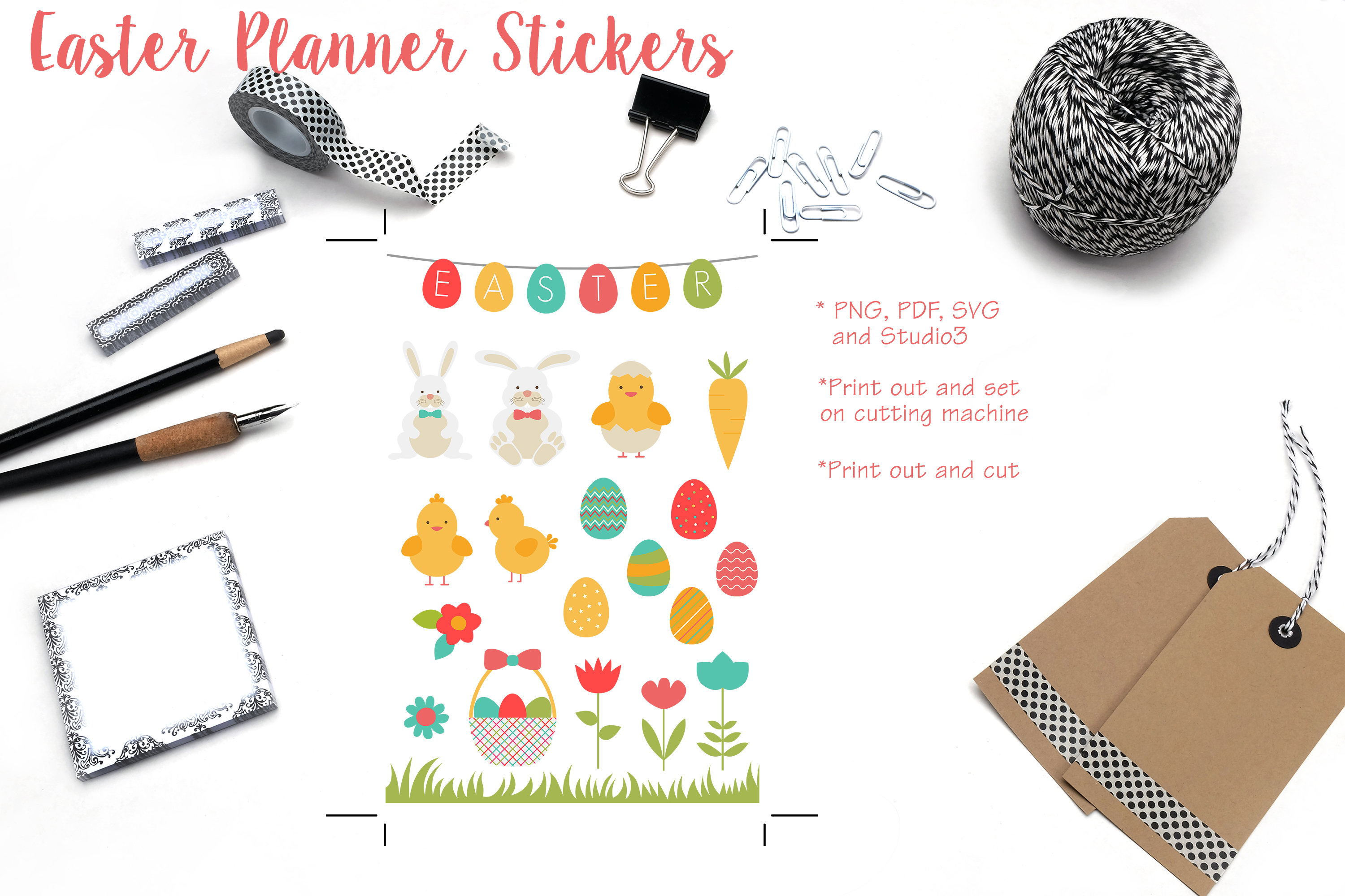 Easter Planner Stickers example image 1