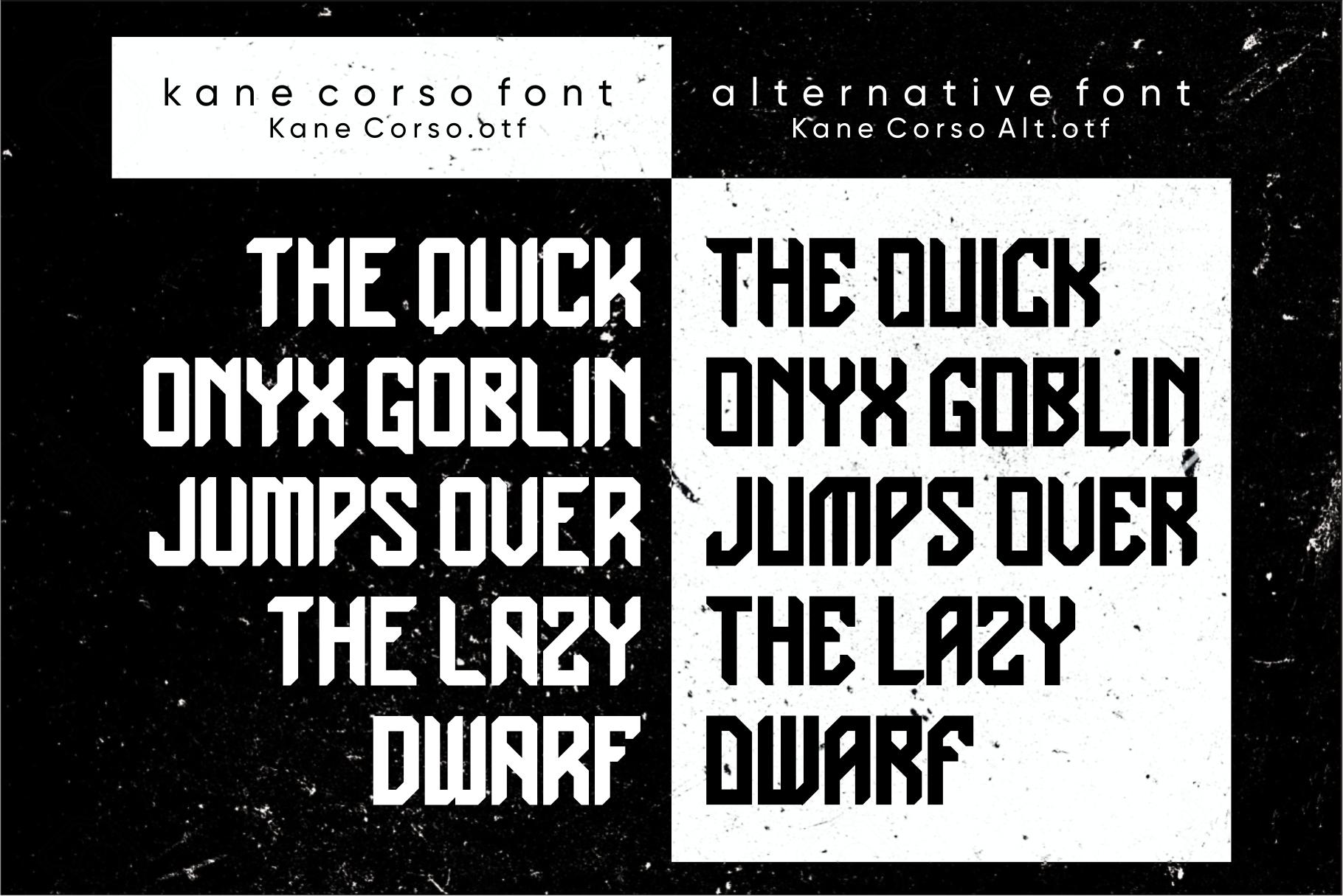 Kane Corso | Block Font example image 2