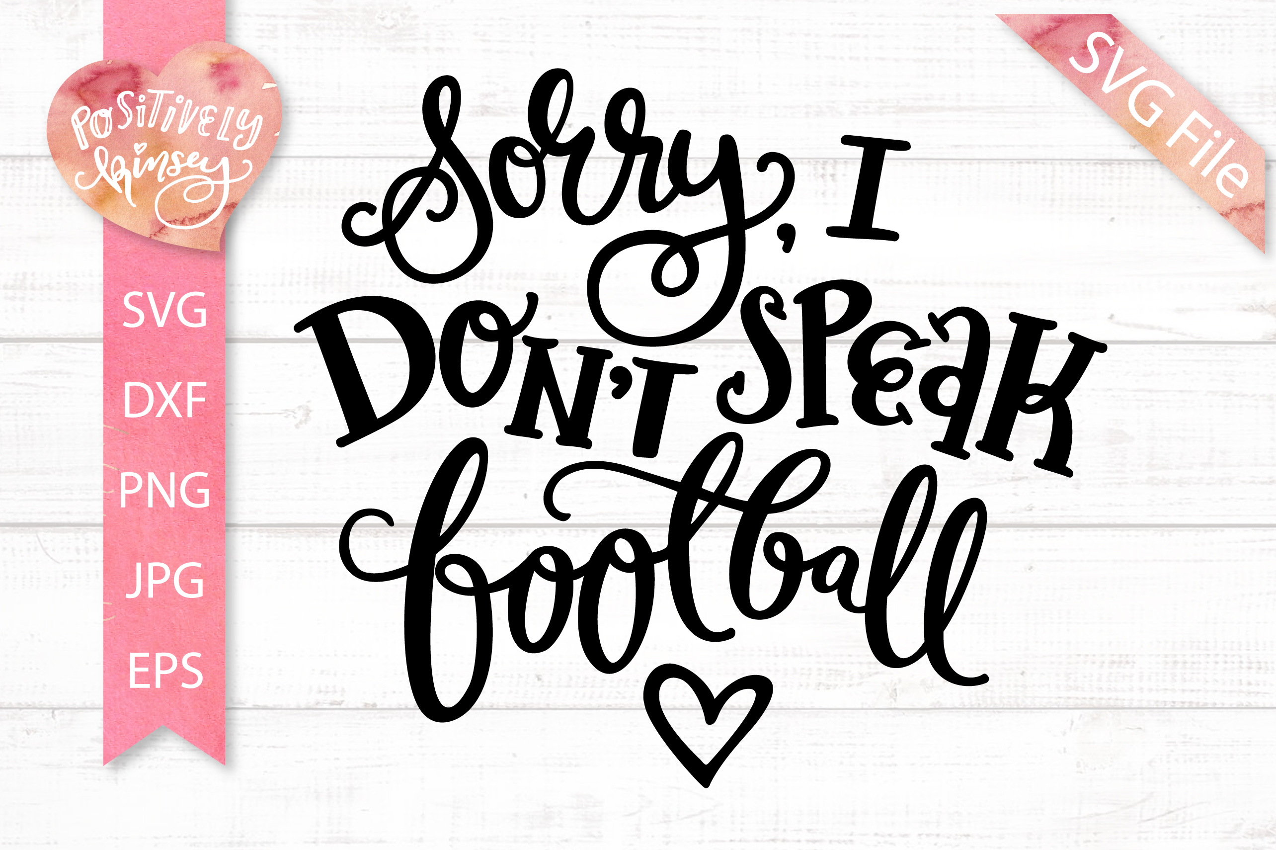 Introvert SVG, Sorry I Don't Speak Football SVG DXF PNG EPS example image 2