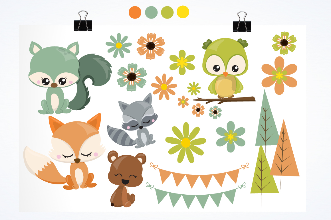 Woodland friends graphics and illustrations example image 2