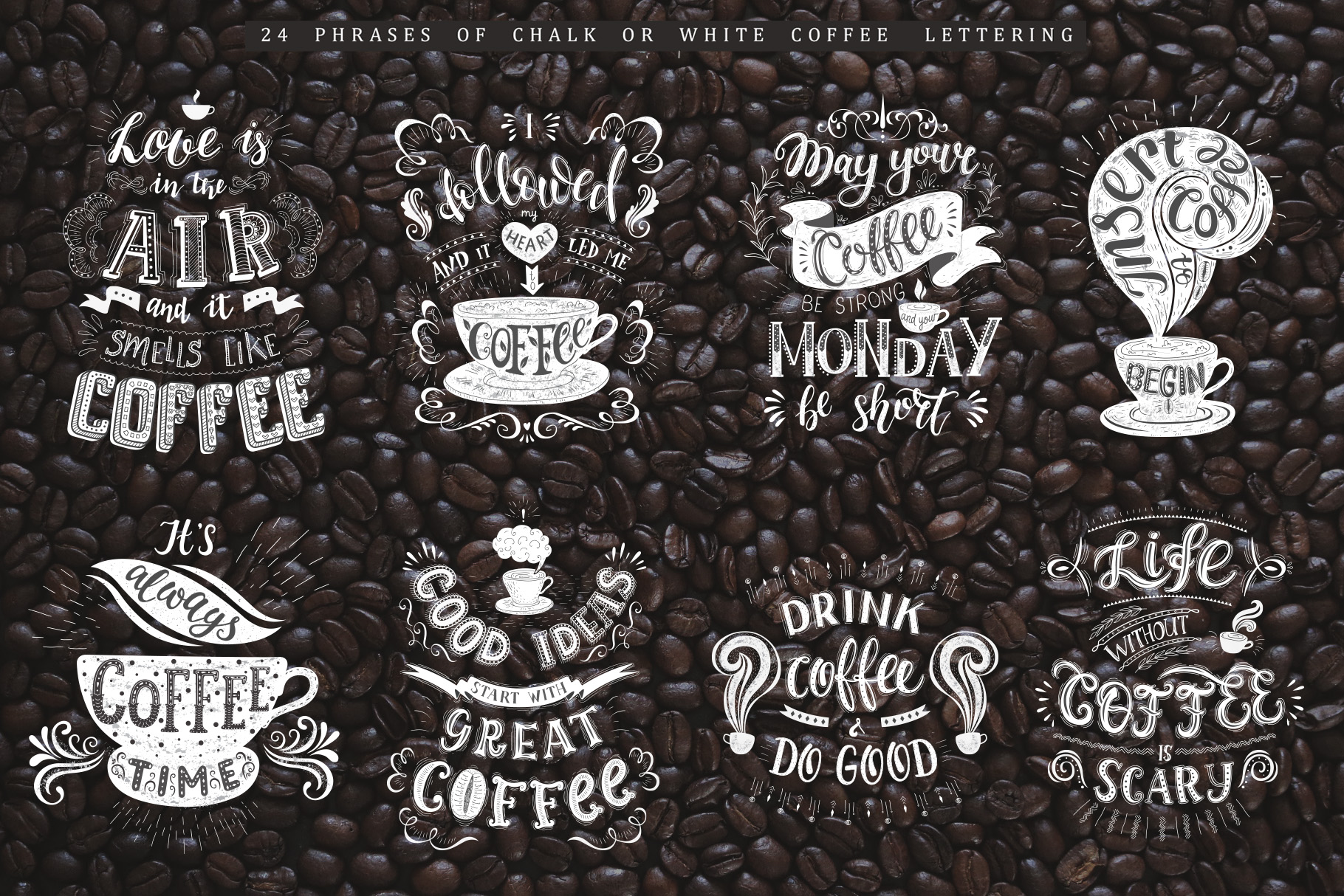 Coffee. Handlettering Quotes. example image 17