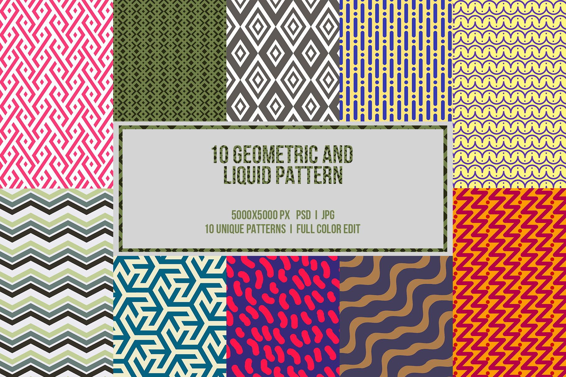 10 Geometric and Liquid Pattern example image 1