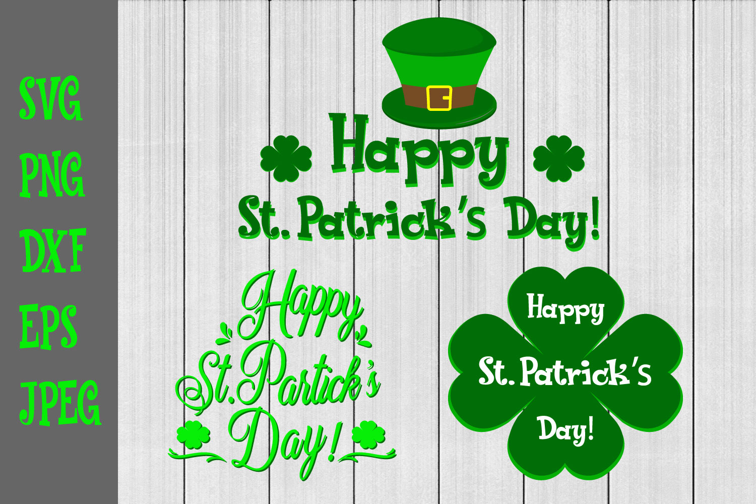 Happy St.Patrick's Day Svg,Lucky Bundle example image 1