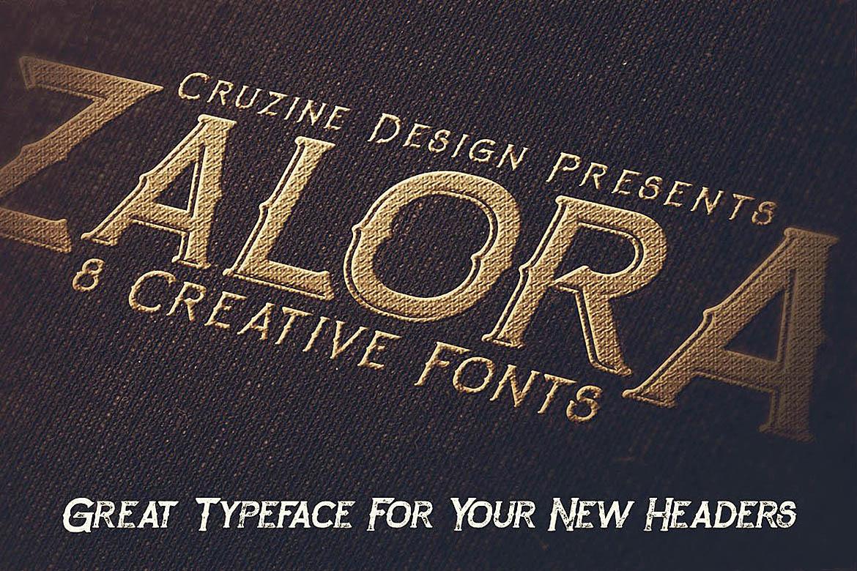 Zalora Typeface example image 3