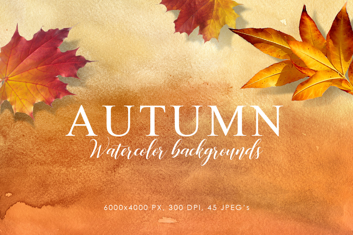 Autumn Watercolor Backgrounds example image 1