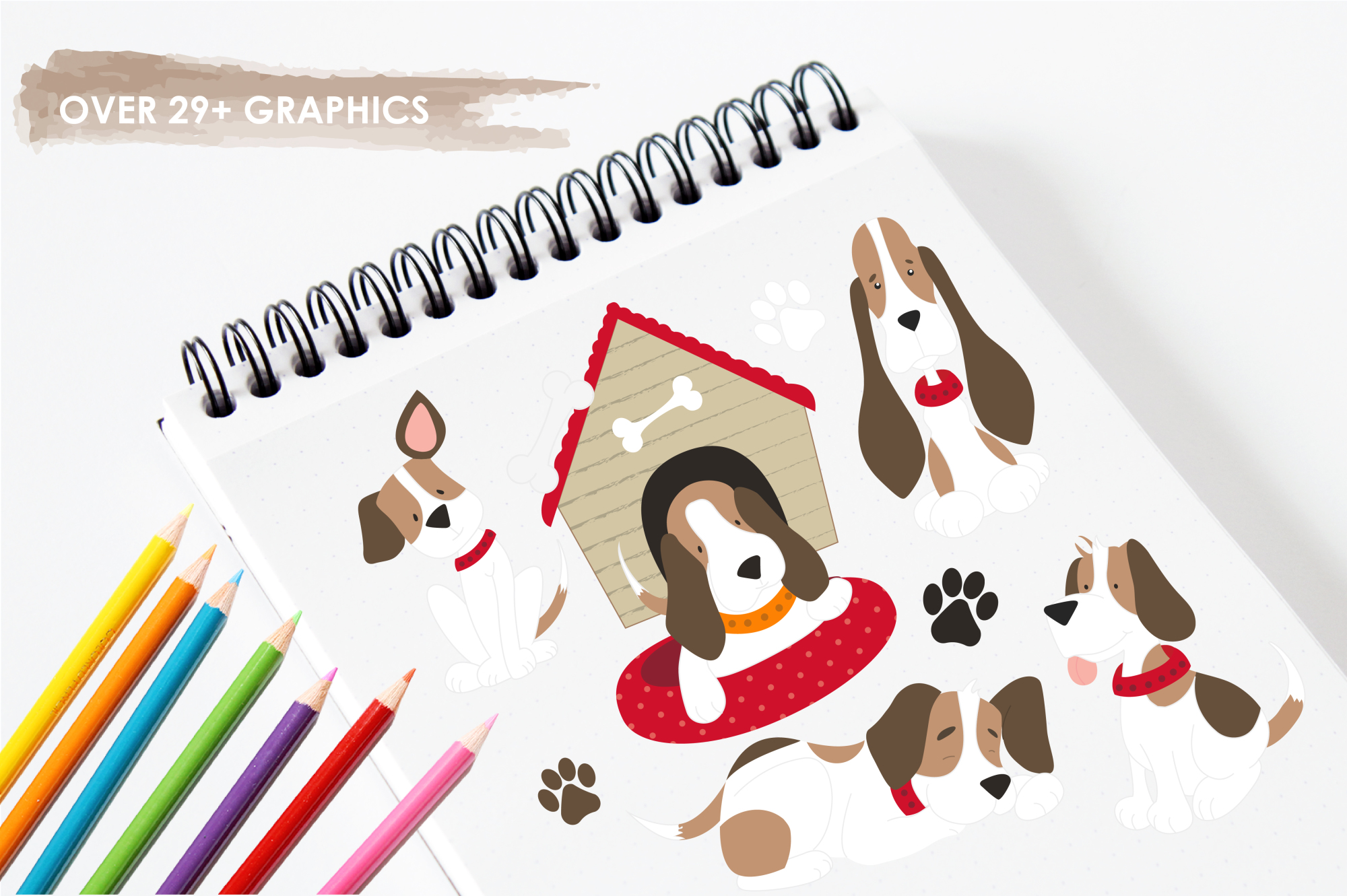 Beagle Love graphics and illustrations example image 3