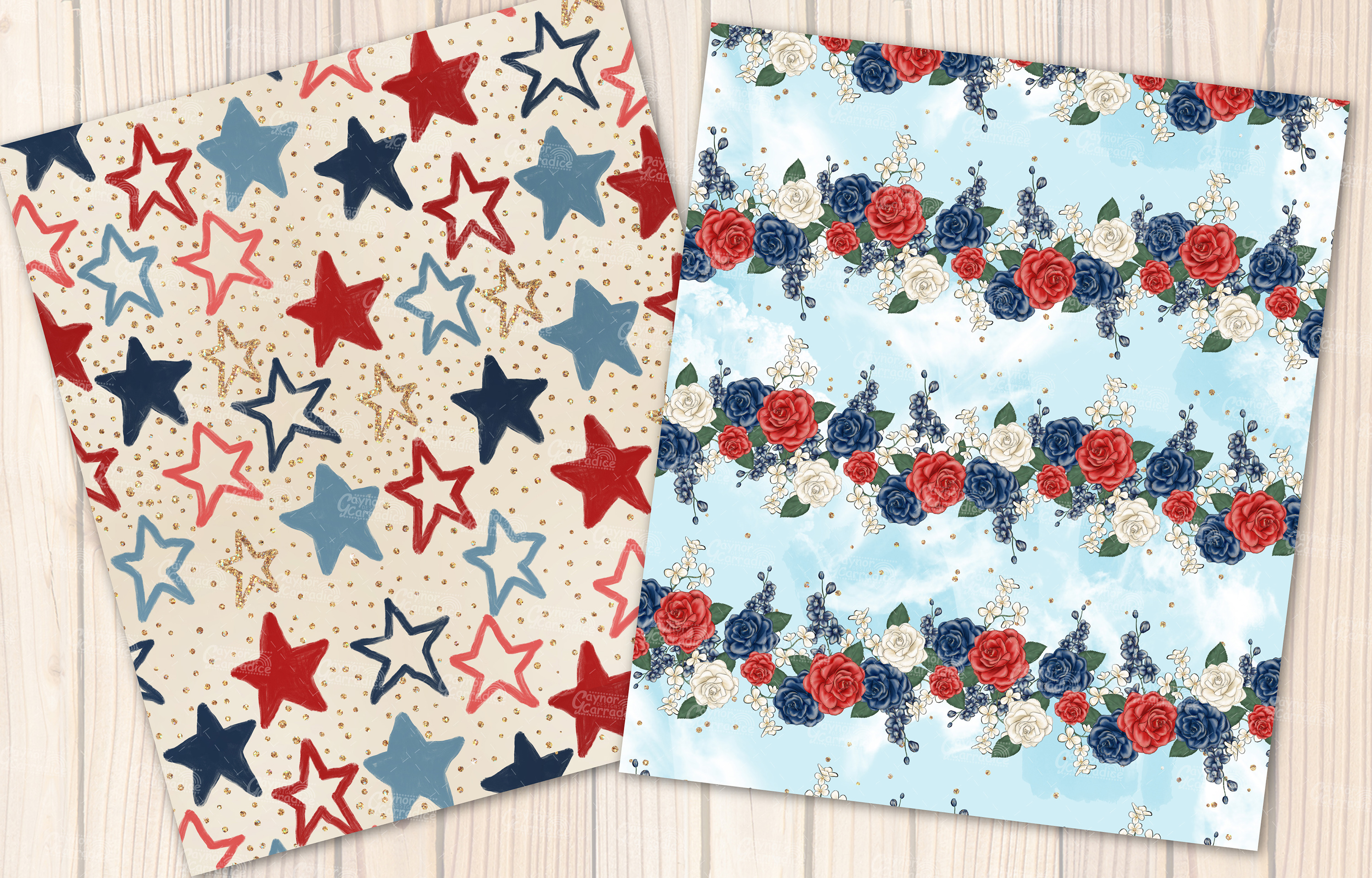 4th of July seamless pattern collection example image 6