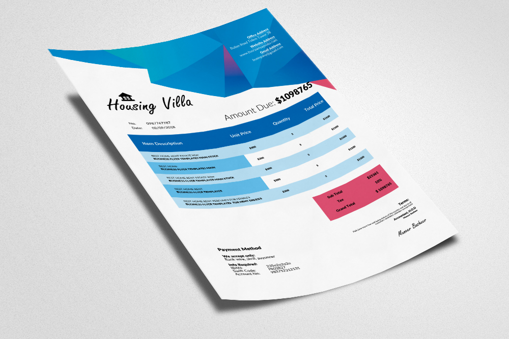 Invoice Ms Word Template example image 3