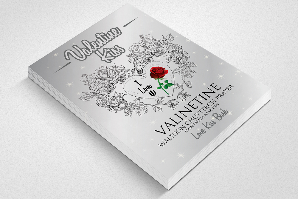 Valentine Day Flyer Template example image 2