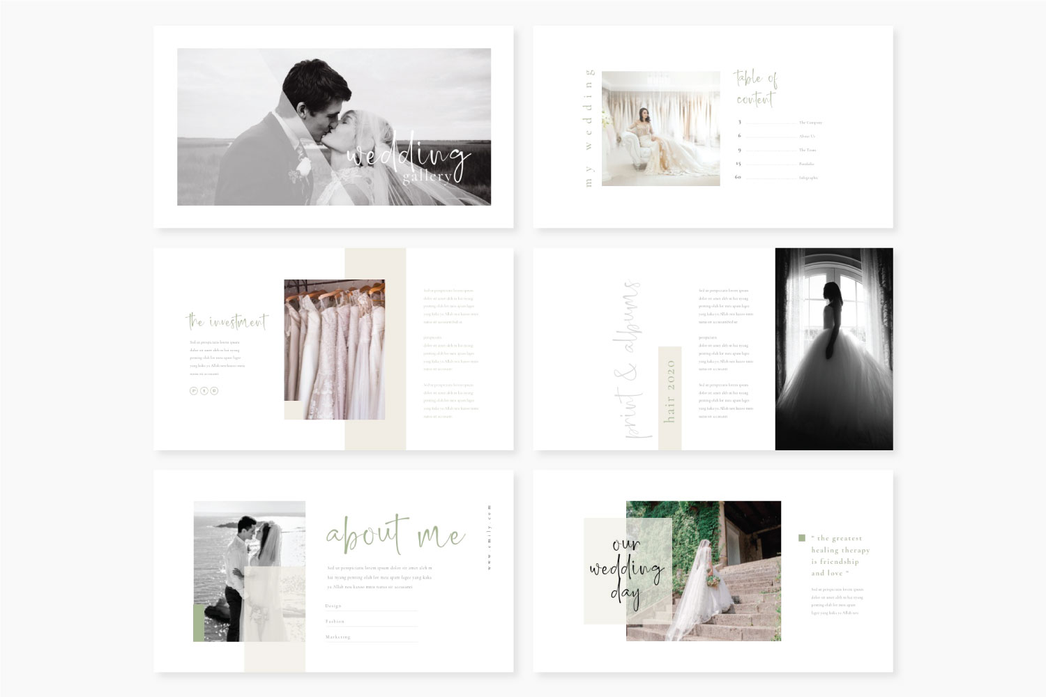 Wedding Powerpoint template example image 2