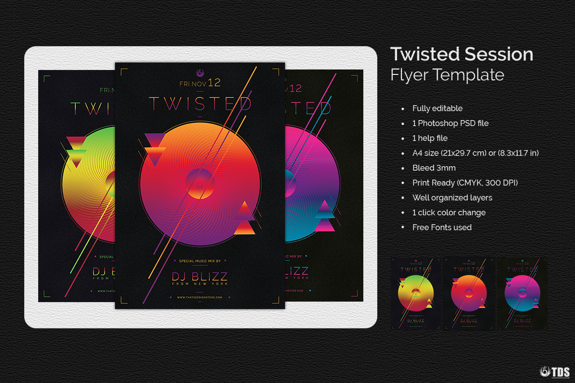 Twisted Session Flyer Template example image 2