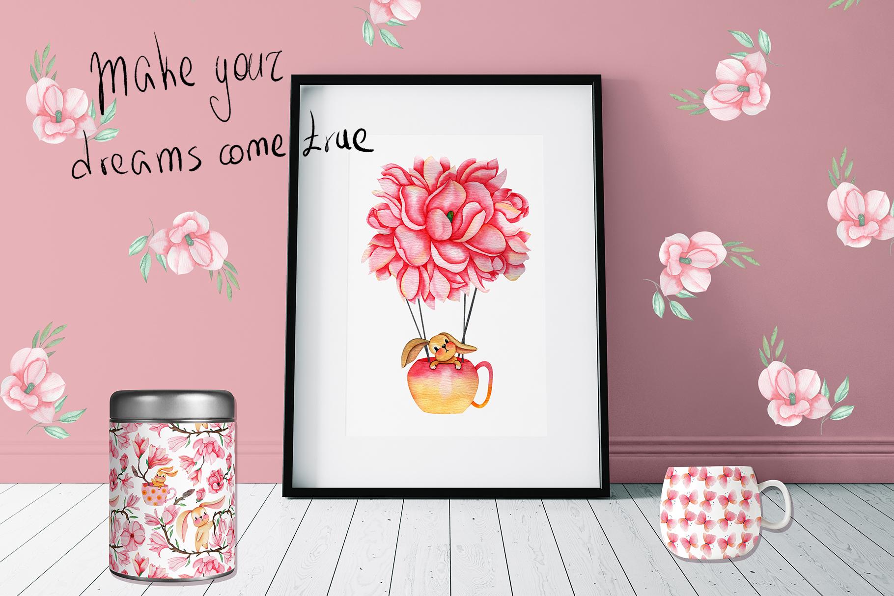 Magnolia Dream - Watercolor Illustrations example image 6