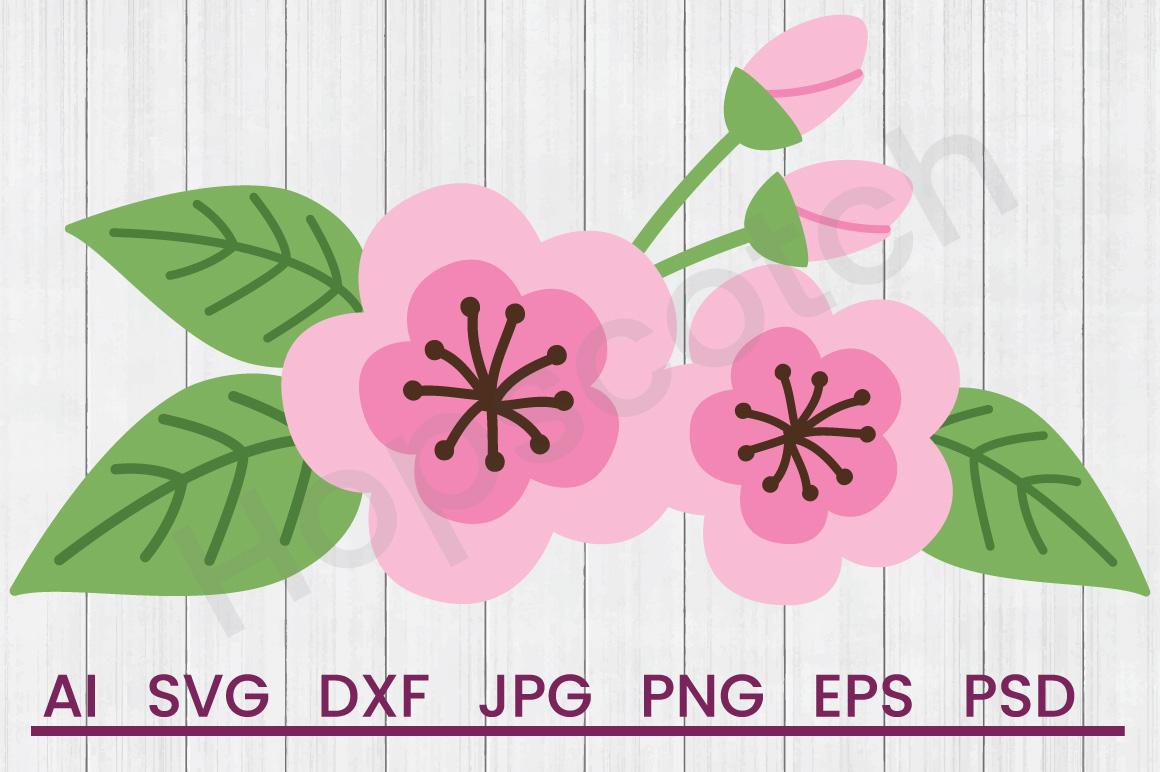 Flower SVG, DXF File, Cuttatable File example image 1