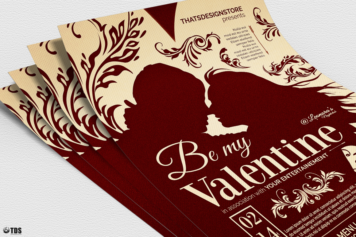 Valentines Day Flyer Template V6 example image 5