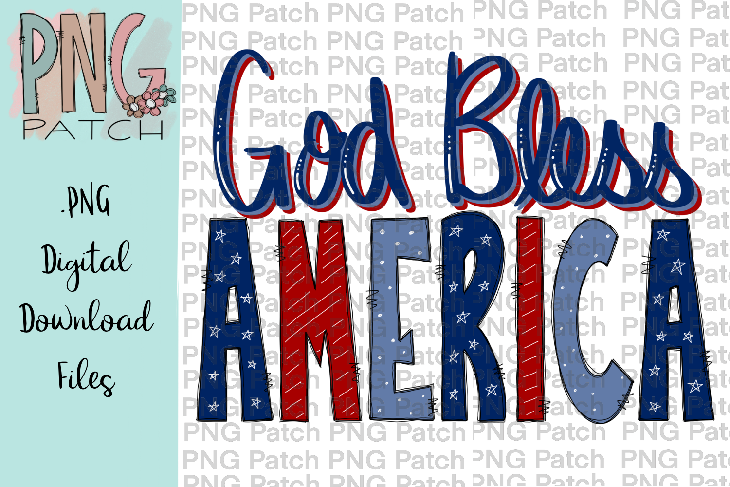 God Bless America Background Quilting Stencil