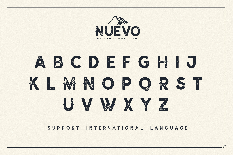 Nuevo - Vintage Adventure Font example image 5