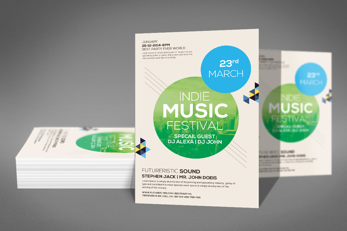 Modern Beats Flyer Template example image 2